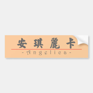 Chinese name for Angelica 21372_4.pdf Bumper Sticker