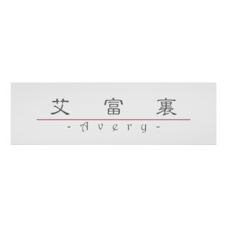 Chinese name for Avery 20439_2 pdf Posters