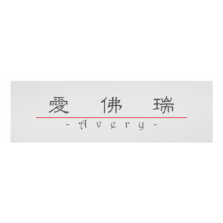 Chinese name for Avery 21017_2 pdf Poster
