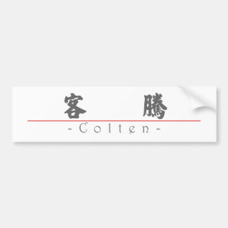 Chinese name for Colten 22385_4.pdf Bumper Sticker