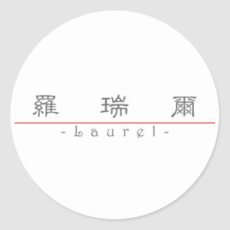 Chinese name for Laurel 20199_2.pdf Sticker
