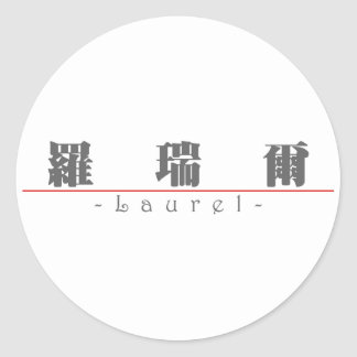 Chinese name for Laurel 20199_3.pdf Sticker