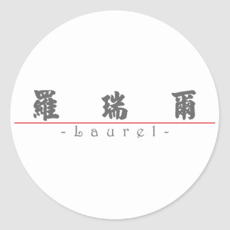Chinese name for Laurel 20199_4.pdf Stickers