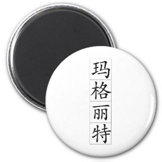 Chinese name for Marguerite 20226_1.pdf 6 Cm Round Magnet