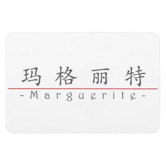 Chinese name for Marguerite 20226_1.pdf Rectangular Photo Magnet