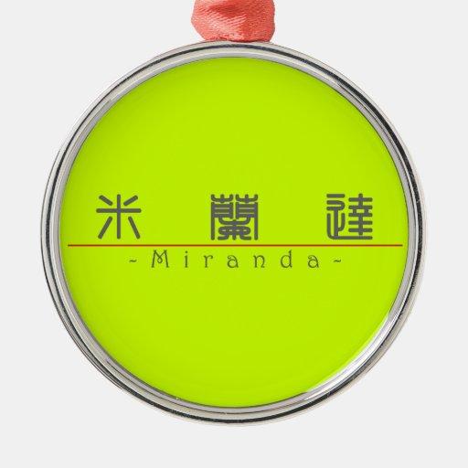 Chinese name for Miranda 20250_0.pdf Christmas Ornaments