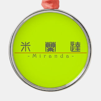 Chinese name for Miranda 20250_0.pdf Silver-Colored Round Decoration