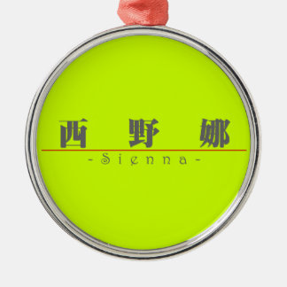 Chinese name for Sienna 21224_3.pdf Silver-Colored Round Decoration