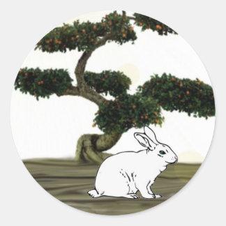 Chinese Ne Year Hare Round Sticker