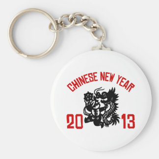 Chinese New Year 2013 Basic Round Button Key Ring
