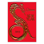 Chinese New Year 2013 Snake Greeting Blank Inside Greeting Card