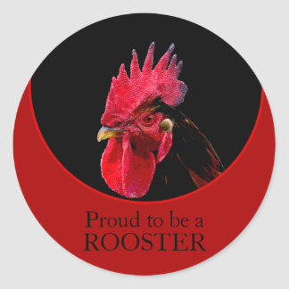 Chinese New Year 2017 Birthday Zodiac Rooster S Classic Round Sticker
