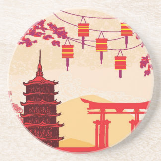 Chinese New Year Card - Traditional Lanterns Drink Coasters