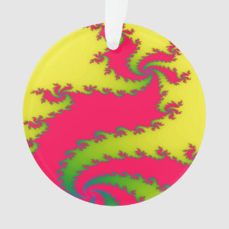 Chinese New Year Dragon Fractal Acrylic Ornament