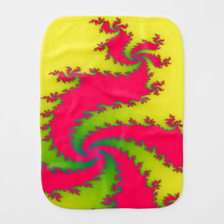 Chinese New Year Dragon Fractal Burp Cloth