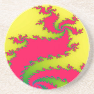 Chinese New Year Dragon Fractal Coasters