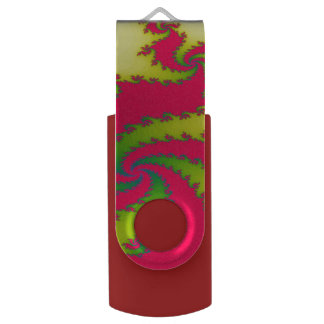 Chinese New Year Dragon Fractal Custom USB Drive