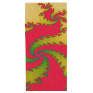 Chinese New Year Dragon Fractal Custom USB Drive Wood USB 2.0 Flash Drive