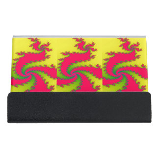 Chinese New Year Dragon Fractal Desk Business Card Holder