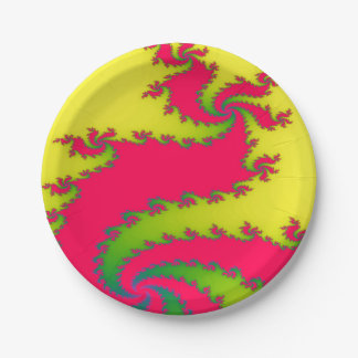 Chinese New Year Dragon Fractal Paper Party Plates