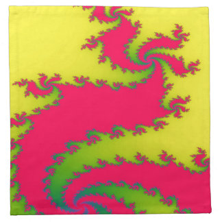 Chinese New Year Dragon Fractal Party Napkin
