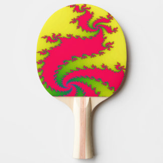 Chinese New Year Dragon Fractal Ping Pong Paddle