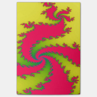 Chinese New Year Dragon Fractal Post it notes Pad