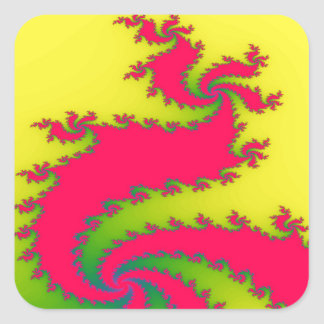 Chinese New Year Dragon Fractal Stickers