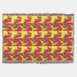 Chinese New Year Dragon Fractal Throw Blanket