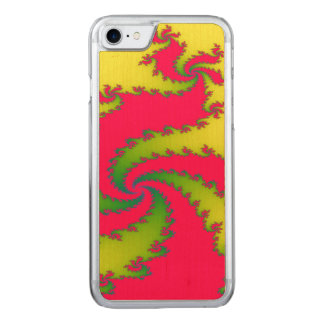Chinese New Year Dragon Fractal Wooden Phone Case