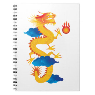 Chinese New Year Dragon Illustration Spiral Notebooks