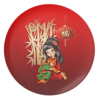 Chinese New Year Gift Melamine Plates