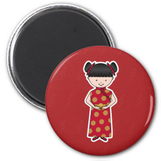 Chinese New Year Girl Magnet