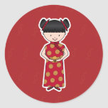 Chinese New Year Girl Stickers