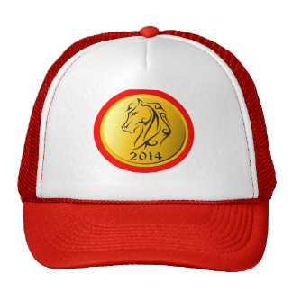 Chinese New Year - Horse Profile 2014 Trucker Hats
