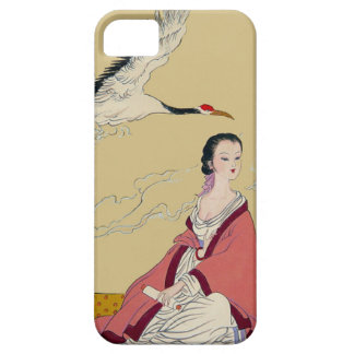 Chinese New Year,  Lady with a crane iPhone 5 Cover