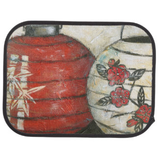 Chinese New Year Lanterns with Floral Print Car Mat