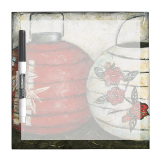 Chinese New Year Lanterns with Floral Print Dry Erase Board