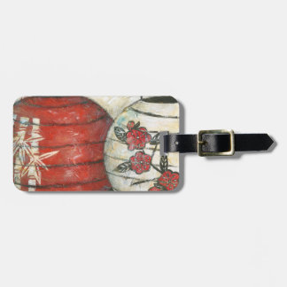 Chinese New Year Lanterns with Floral Print Luggage Tag