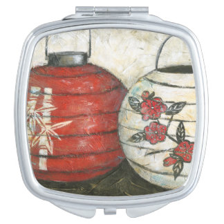 Chinese New Year Lanterns with Floral Print Makeup Mirrors