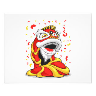 Chinese New Year Lion 11.5 Cm X 14 Cm Flyer
