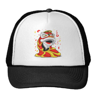 Chinese New Year Lion Trucker Hats