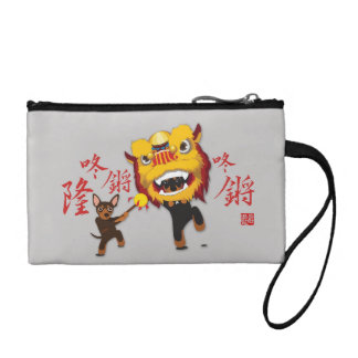 Chinese New Year Lion Dance Min Pin Money Bag