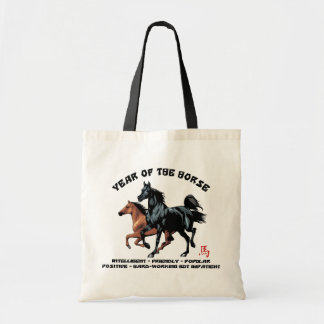 Chinese New Year of The Horse Budget Tote Bag