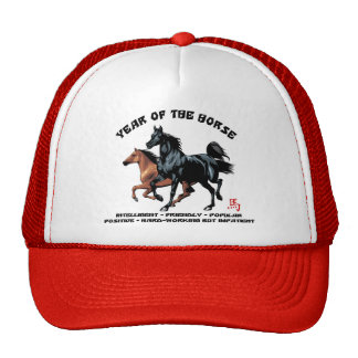 Chinese New Year of The Horse Mesh Hats