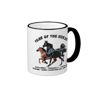 Chinese New Year of The Horse Ringer Coffee Mug