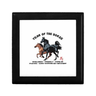 Chinese New Year of The Horse Small Square Gift Box