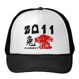 Chinese New Year of The Rabbit Trucker Hats