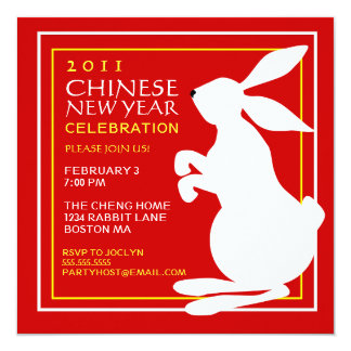 Chinese New Year of the Rabbit Party Invitation