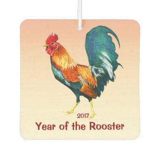 Chinese New Year of the Rooster Car Air Freshener